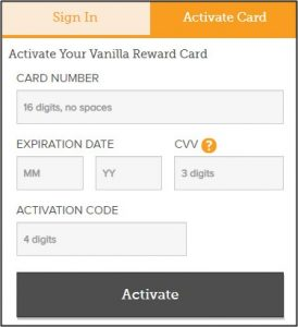 Vanilla Card Activation Visa & MasterCard