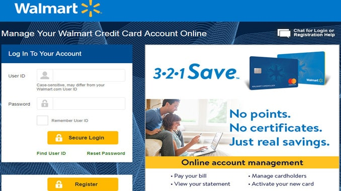 Walmart Credit Card Activation Login