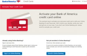Activate Bank of America Credit Card