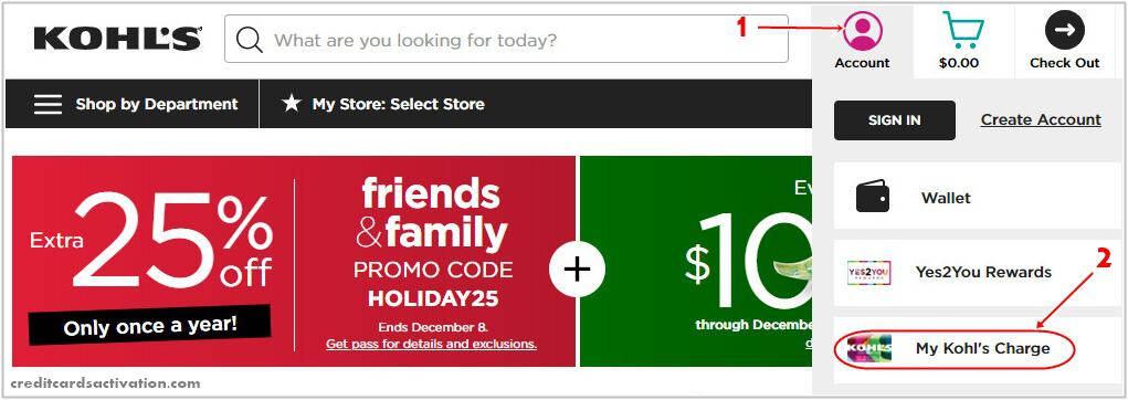 Activate a Kohl's Charge Card Online