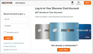 Log In to Your Discover Credit Card Online Account